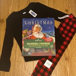 Old Navy Christmas PJ Set Black Red Size 3T